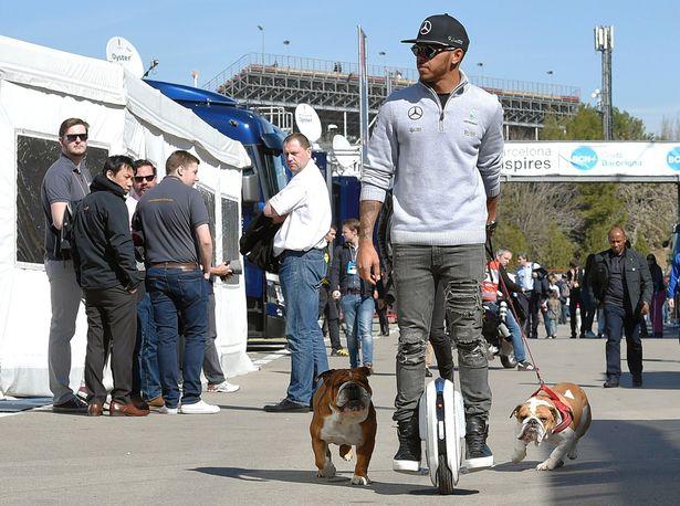 Lewis Hamilton on Paddock