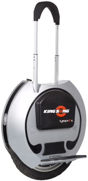 King Song 16S Silver Handle Extended