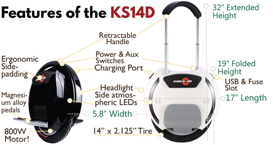 KINGSONG KS-14M/ KS-14D (e-Unicycle)