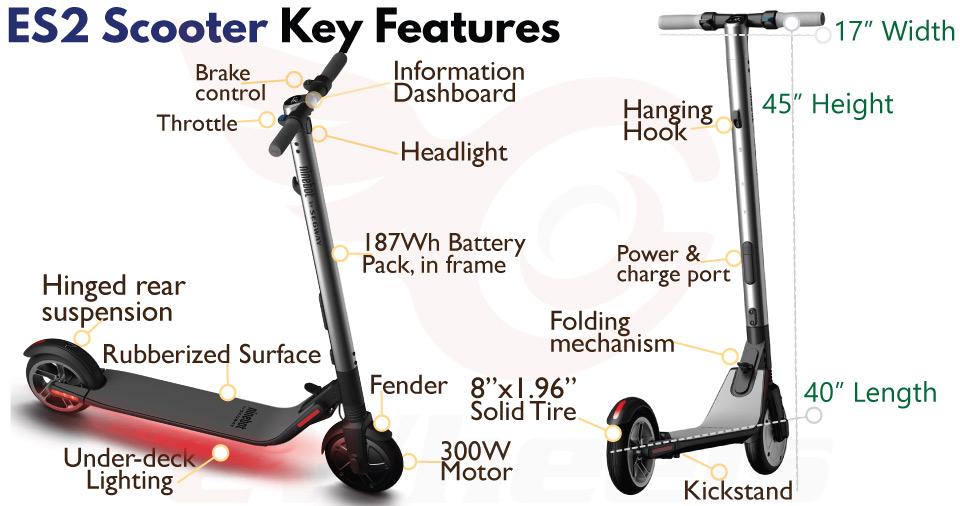 Ninebot Segway ES2/ES4  Electric Scooter, US Stock & Warranty