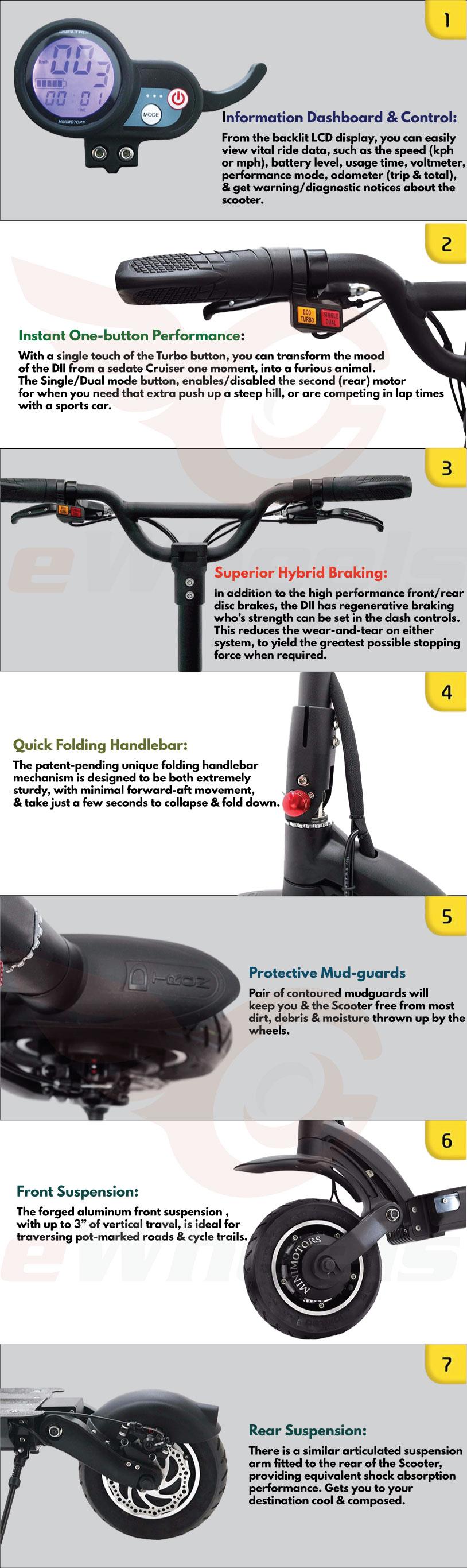 Dualtron II 2 EX EX+ LTD Minimotors Product Sheet 1