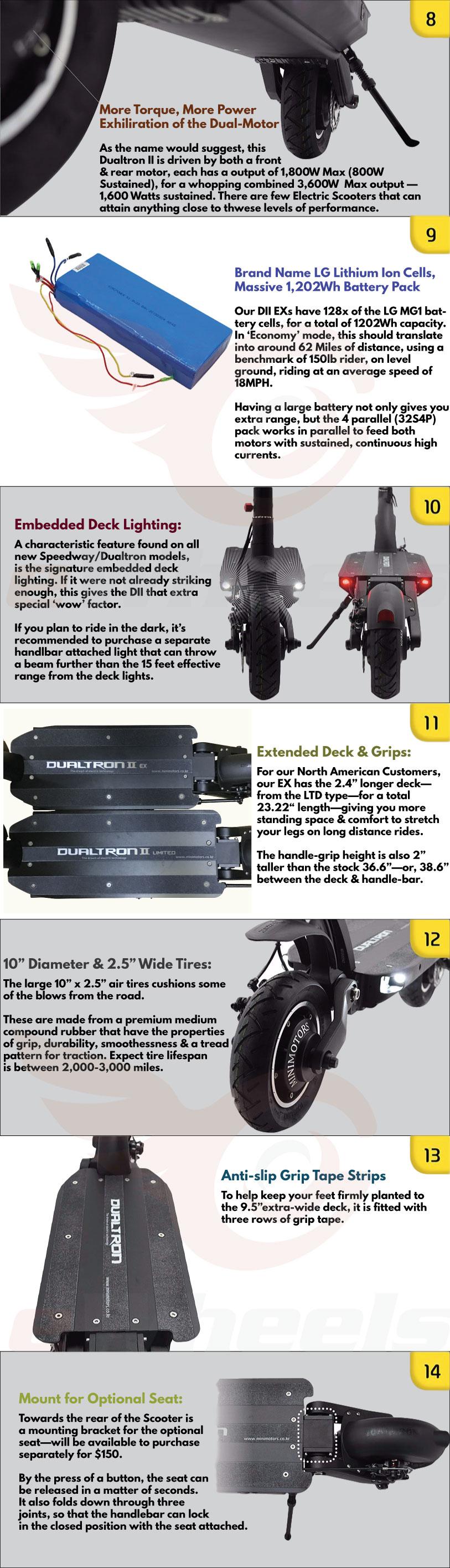 Dualtron II 2 EX EX+ LTD Minimotors Product Sheet 2