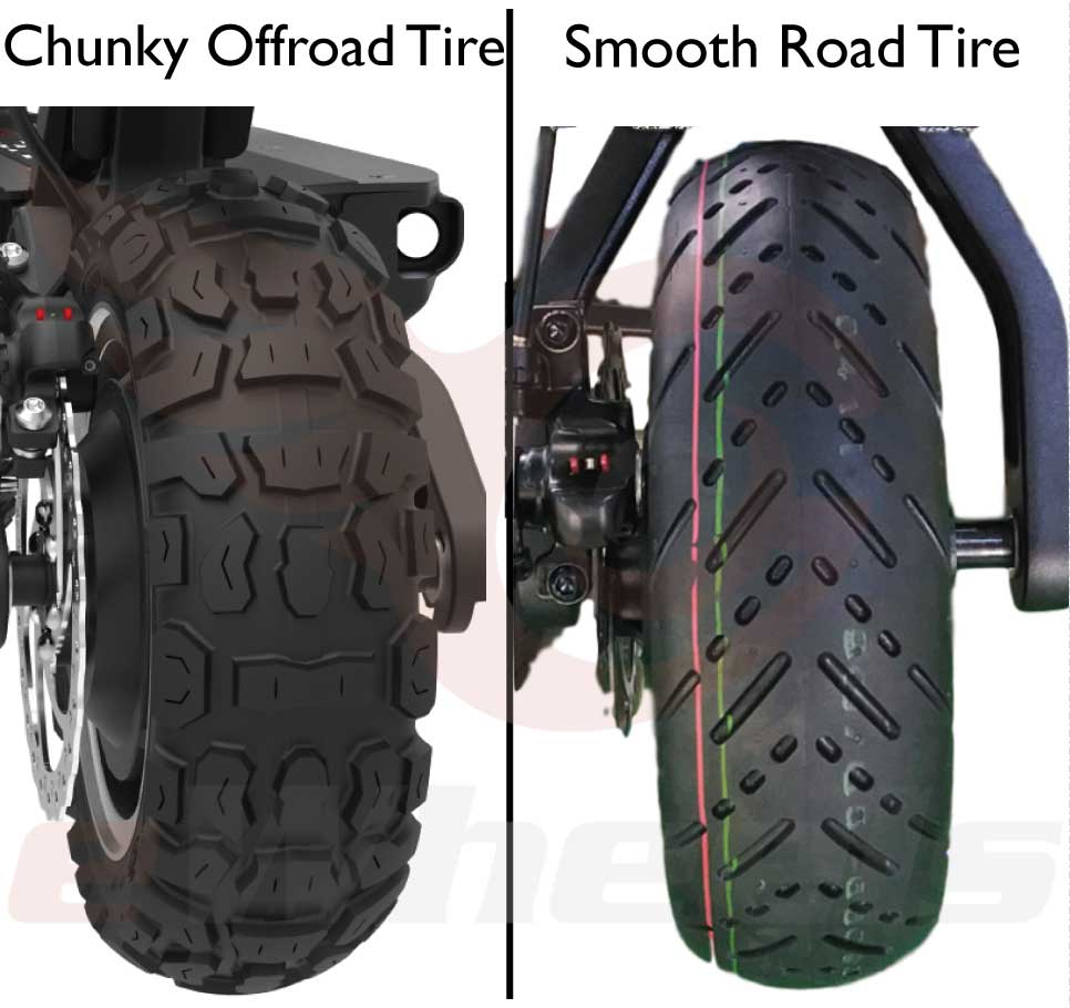 Dualtron Ultra Tire Choice: Road or Chunky Off-road types