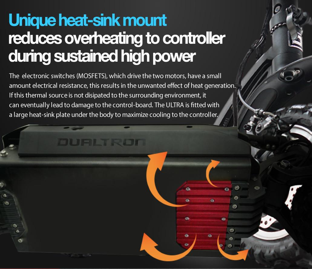 Dualtron Ultra Heatsink Under Scooter Body