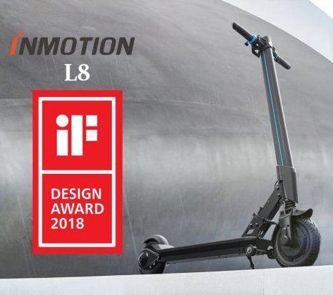 New Inmotion L8F 313Wh 250W Motor, Gen II Electric Kick Scooter