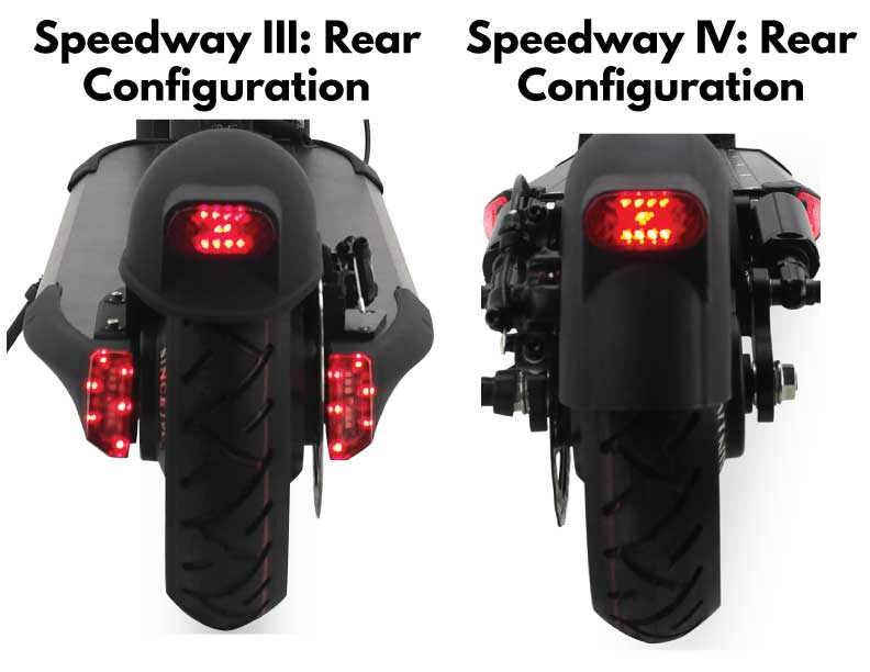 Speedway 3 vs Speedway 4 Differences: Rear Views