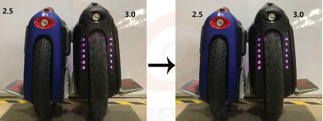 Gotway MSX Improvements, Larger Tire
