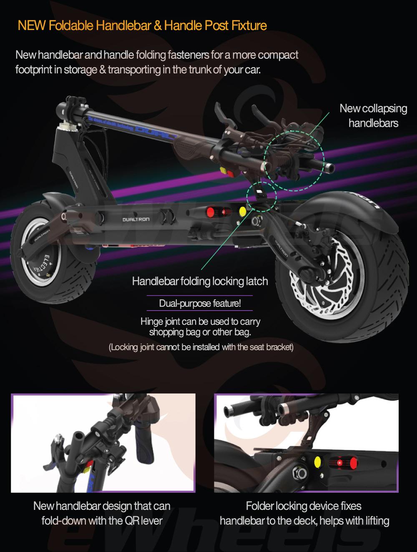 Dualtron Thunder Handlebar Folding & Latch