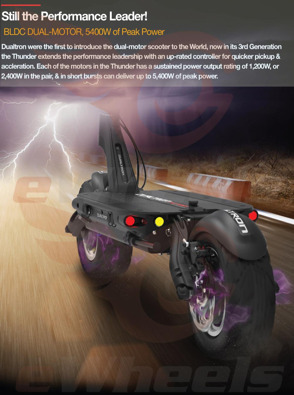 Dualtron Thunder Motor Power Performance