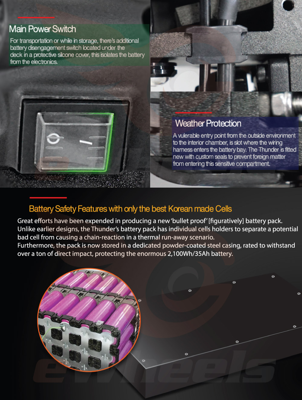 Dualtron Thunder Weather Protection, Safety & Battery Pack