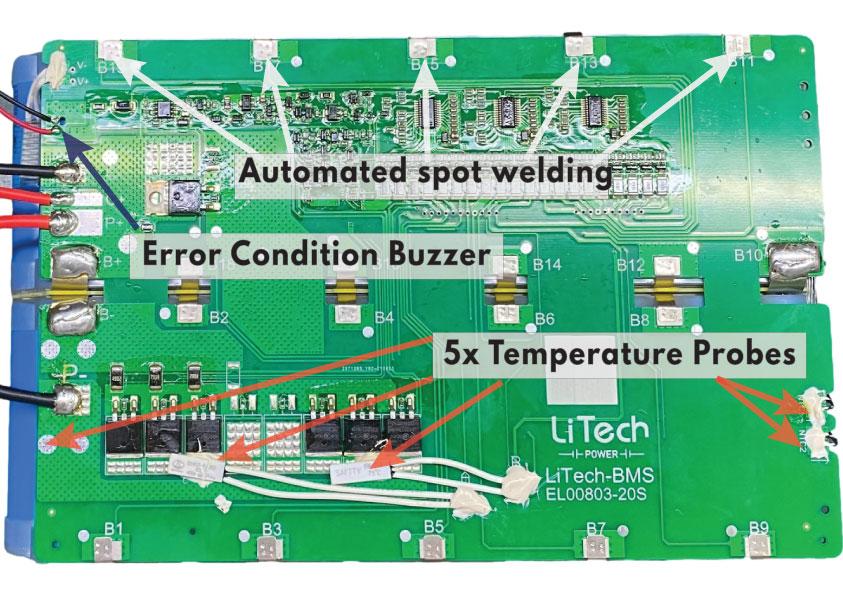 LiTech BMS Improvements for Begode 900Wh Battery Pack