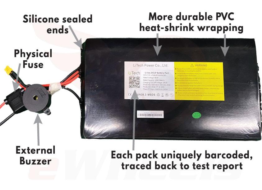 LiTech External Pack Improvements for Begode 900Wh Battery Pack