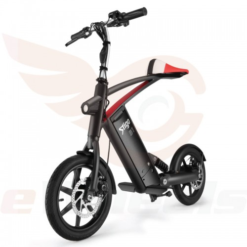 Sitgo B1 Black Folding Bike eBike- Front Oblique Left