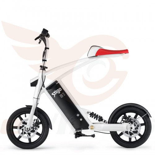 Sitgo B1 White Folding Bike eBike Side