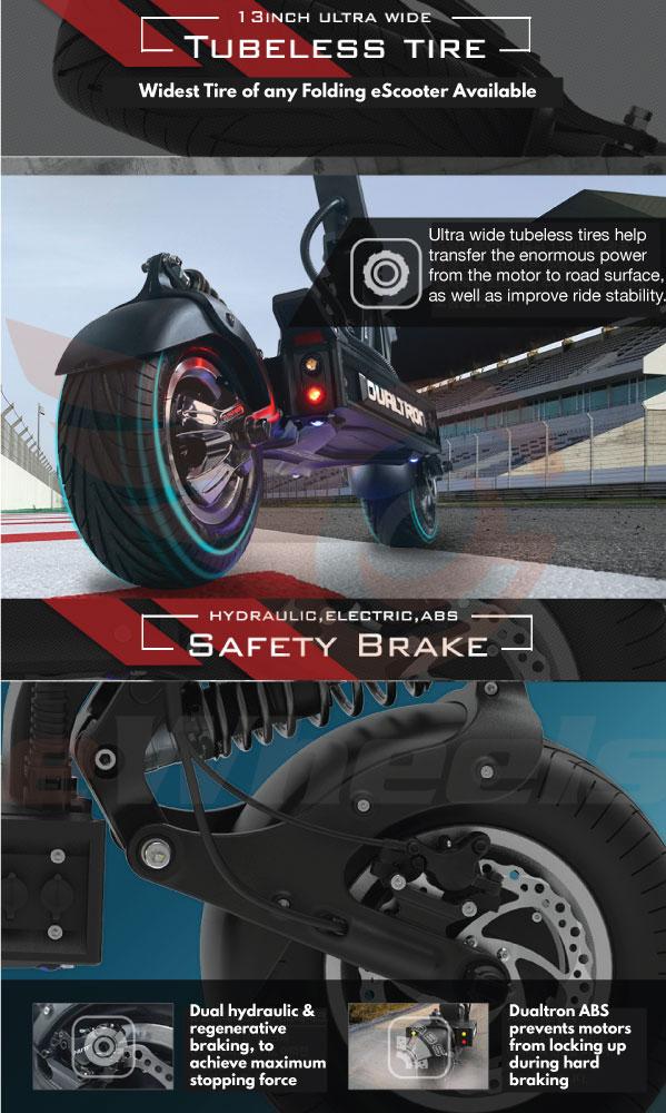 Dualtron X Brochure- Tire & Brakes