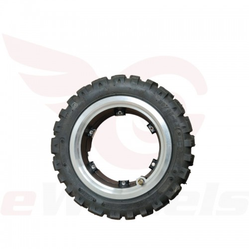 "Electric Scooter 11x4"" Off-road Tire + Rim, Side"