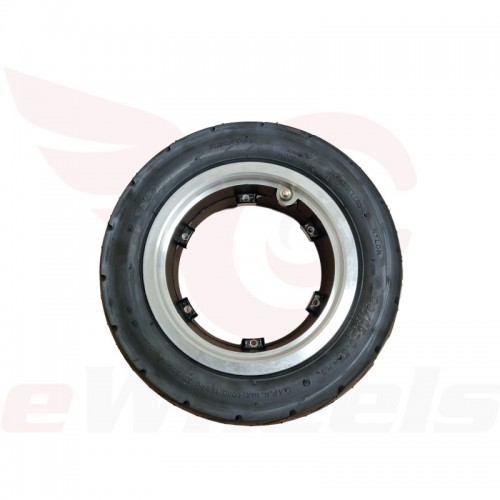"Electric Scooter 11x4"" Road Tire + Rim, Side"