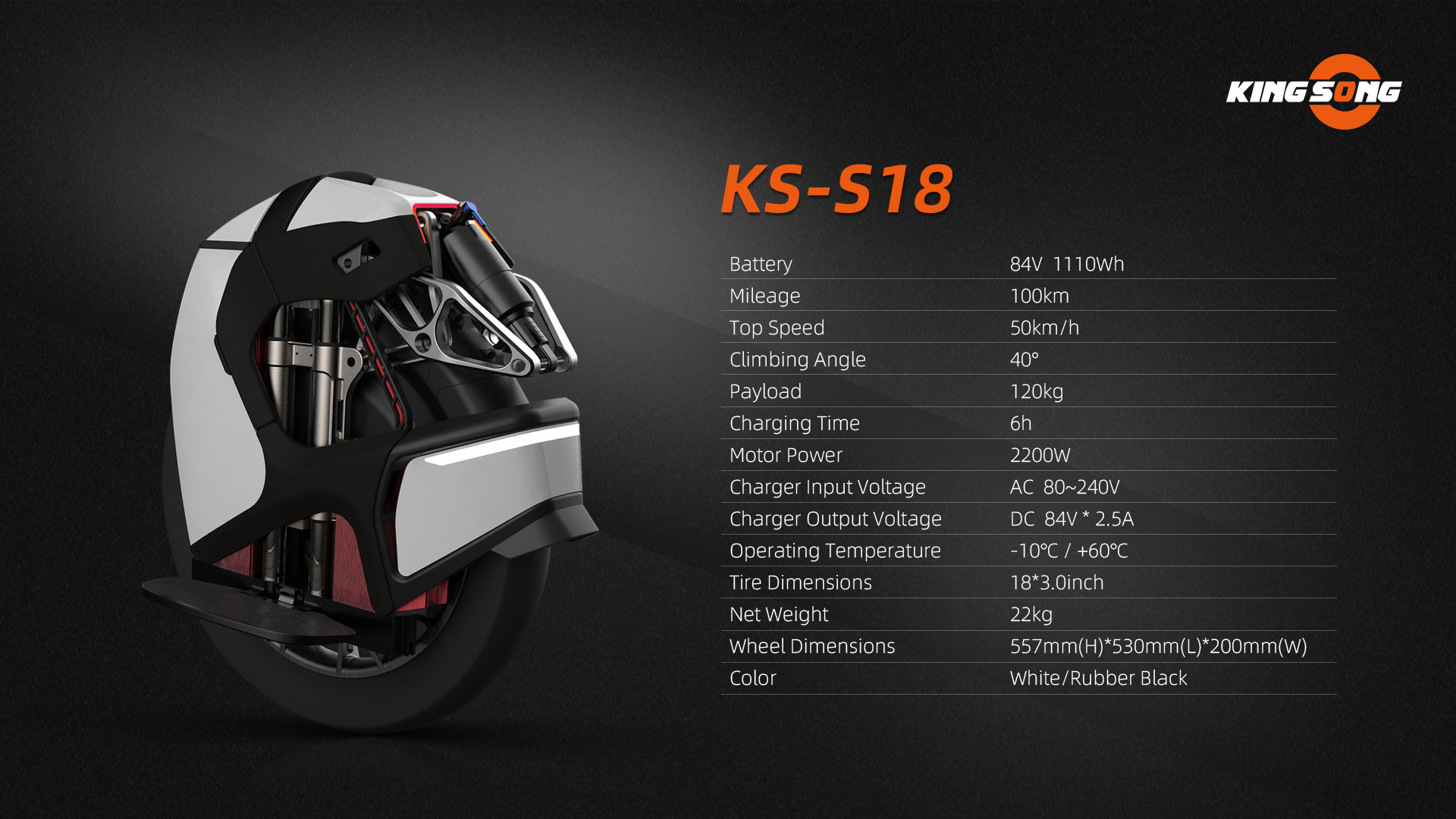 King Song S18, Presentation & Specs. Page 5