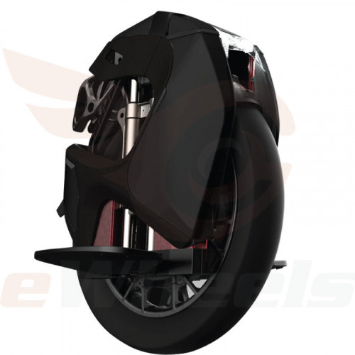 King Song S18 Suspension Electric Unicycle. Black, Front Oblique Right